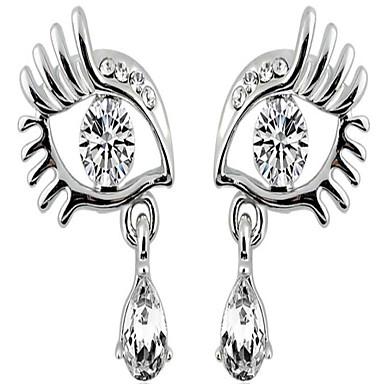 Γυναικεία Κουμπωτά Σκουλαρίκια Στρας Κοσμήματα με στυλ κοσμήματα πολυτελείας Εξατομικευόμενο Ευρωπαϊκό Προσομειωμένο διαμάντι Κράμα Μάτι