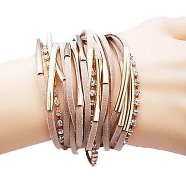 Women's Wrap Bracelet Personalized Unique Design Plaited Bridal Fashion Leather Jewelry Jewelry Christmas Gifts Wedding Party Daily