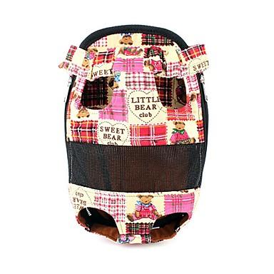 قط كلب الحاملة حقائب تحمل على الظهر وللسفر جبهة الظهر حيوانات أليفة حاملات المحمول جميل أحمر