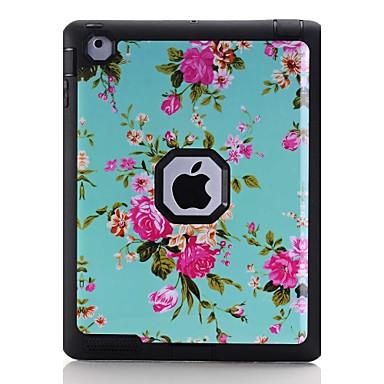 Kılıf Na Apple iPad 4/3/2 Odporne na wstrząsy Wzór Pełne etui Kwiaty Twarde TPU na iPad 4/3/2 Apple