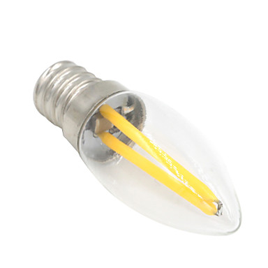 1.5W 80-100 lm E12 Bulb LED Glob T 2 led-uri COB Decorativ Alb Cald AC 220-240V