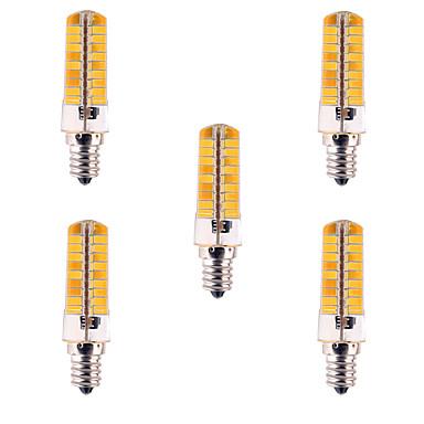 E12 LED Mısır Işıklar T 80 led SMD 5730 Kısılabilir Dekorotif Sıcak Beyaz Serin Beyaz 500-700lm 2800-3200/6000-6500