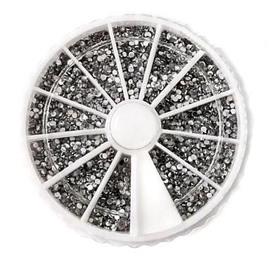 3600 pcs Nail Art Takımı Tırnak Takısı Yapay Elmaslar Sevimli tırnak sanatı Manikür pedikür Günlük Soyut / Punk / Düğün / Arkilik / Nail Jewelry
