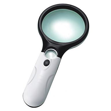 Suurennuslasit Kädessäpidettävä 3 Magnification (Large Lens), 45 Magnification (Small Lens) 75mm