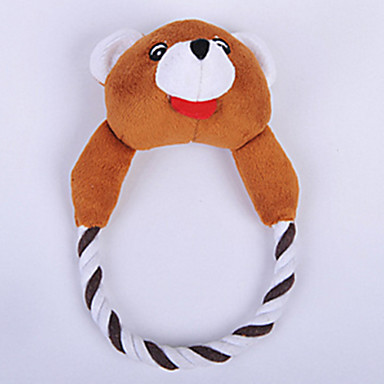 Lemmikkieläinten lelut Plush-lelu Kitistä Puuvilla