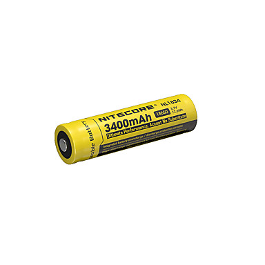 nitecore nl1834 3400mAh 3.7V 12.6wh επαναφορτιζόμενη μπαταρία 18650 li-ion