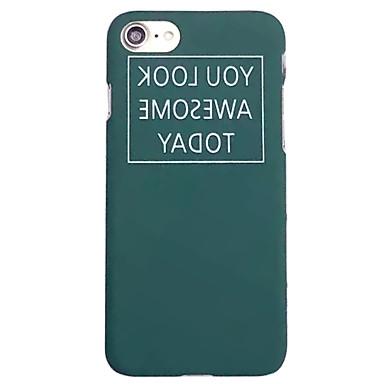 Na Etui iPhone 7 Etui iPhone 7 Plus Etui iPhone 6 Etui Pokrowce Wzór Etui na tył Kılıf Napis Twarde PC na AppleiPhone 7 Plus iPhone 7