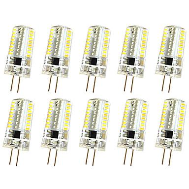 10pcs 3W 280-300 lm G4 Oświetlenie dekoracyjne T 64 Diody lED SMD 3014 Przysłonięcia Ciepła biel Zimna biel AC 220V AC 85-265V
