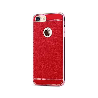 Mert iPhone 7 tok / iPhone 7 Plus tok / iPhone 6 tok Galvanizálás Case Hátlap Case Egyszínű Puha Műbőr AppleiPhone 7 Plus / iPhone 7 /