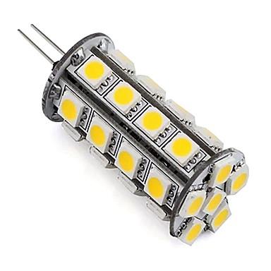4W G4 Żarówki LED bi-pin Rurka 30 SMD 5050 360 lm Ciepła biel Zimna biel Ściemniana Dekoracyjna DC 12 V 1 sztuka