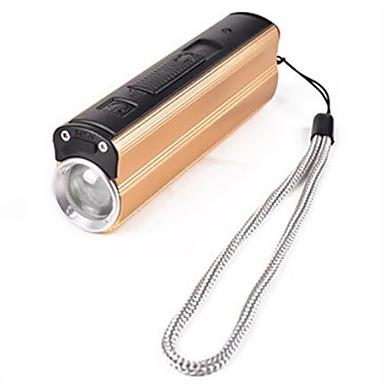 Lanterne LED LED 300 lm 3 Mod LED Cu Baterie și Încărcător Mini Reîncărcabil Rezistent la apă de alimentare mobil Dimensiune Compactă
