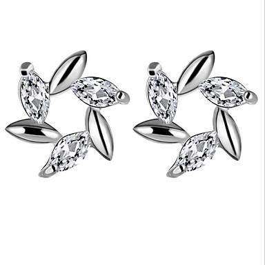 Vidali Küpeler Kristal Kübik Zirconia Moda Avrupa Som Gümüş Zirkon Kübik Zirconia imitasyon Pırlanta alaşım Beyaz Mor Mücevher IçinParti