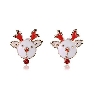 Σκουλαρίκι Κουμπωτά Σκουλαρίκια Κοσμήματα Γυναικεία / Κορίτσια Πάρτι / Καθημερινά Κράμα 1 ζευγάρι Λευκό / Κόκκινο
