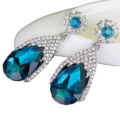 Pentru femei Sapphire sintetic Cercei Picătură - Cristal, Diamante Artificiale Picătură Lux Bleumarin Pentru Nuntă / Petrecere / Zilnic