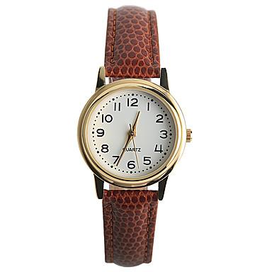 Kadın's Moda Saat Gündelik Saatler Quartz / PU Bant Günlük Kahverengi