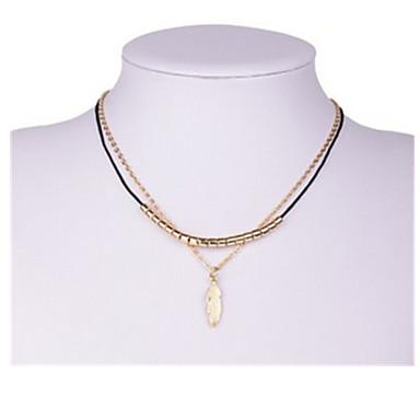 Damskie Naszyjniki choker Leaf Shape Stop Klasyczny Biżuteria Na Impreza Codzienny 1szt