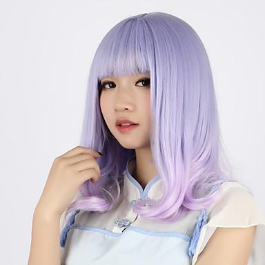 Sweet Lolita Renkli Gradyan Lolita Peruklar 40cm CM Cosplay Perukları Peruk Uyumluluk