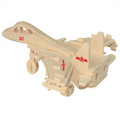 παζλ Ξύλινα παζλ Δομικά στοιχεία DIY παιχνίδια Fighter 1 Ξύλο Κρύσταλλο Μοντελισμός & Κατασκευές