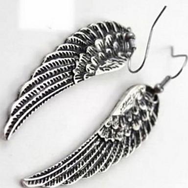 Kadın Damla Küpeler Mücevher Moda Avrupa Som Gümüş Kanatlar / Tüy Mücevher Uyumluluk Günlük