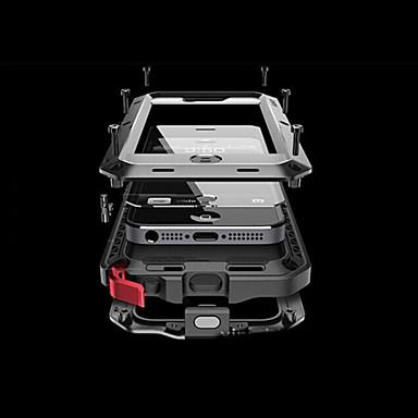 levne Pouzdra na iPhone 5c-Carcasă Pro Apple iPhone 8 / iPhone 8 Plus / iPhone 7 Voda / Dirt / Otřesuvzdorný Celý kryt Jednobarevné Pevné Hliník pro iPhone XS / iPhone XR / iPhone XS Max