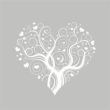 Romantika Divat Virágok Falimatrica Nyaralás falimatrica Dekoratív falmatricák, Vinil lakberendezési fali matrica Fal