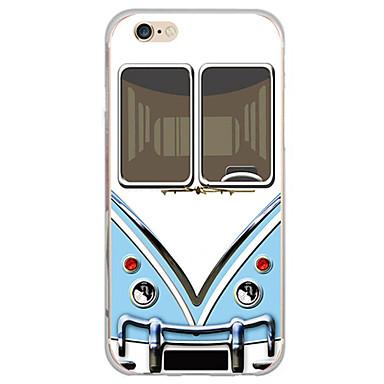 Case Kompatibilitás Apple iPhone X iPhone 8 iPhone 5 tok iPhone 6 iPhone 7 Ultra-vékeny Áttetsző Fekete tok Rajzfilm Puha TPU mert iPhone