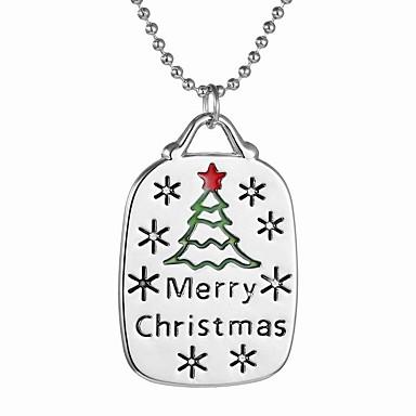 Damskie Naszyjniki z wisiorkami Oval Shape Stop Bohemia Style Chrismas Modny Silver Biżuteria Na Codzienny Prezenty bożonarodzeniowe 1szt