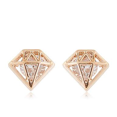 للمرأة أقراط الزر مخصص موضة زركون مكعبات زركونيا تقليد الماس سبيكة مجوهرات فضفاض