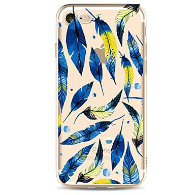 Varten iPhone 7 kotelo iPhone 7 Plus kotelo iPhone 6 kotelo kotelot kuoret Ultraohut Kuvio Takakuori Etui Höyhen Pehmeä TPU varten Apple