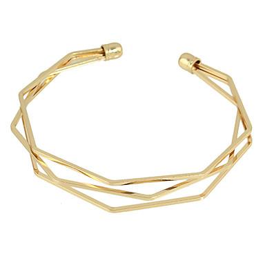 للمرأة أساور اصفاد الصداقة سبيكة صليب أخرى مجوهرات فضفاض مجوهرات أسود فضي ذهبي