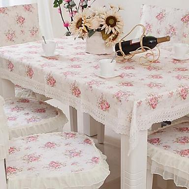 광장 플로럴 패턴 식탁보 , 폴리에스터 자료 호텔 다이닝 테이블
