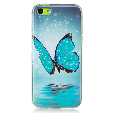 Case For Apple iPhone 7 / iPhone 6 / iPhone 5 Case Glow in the Dark / IMD Back Cover Butterfly Soft TPU for iPhone 7 Plus / iPhone 7 / iPhone 6s Plus
