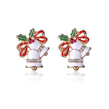 Vidali Küpeler sevimli Stil alaşım Beyaz Kırmzı Mücevher Için Parti Günlük Yılbaşı Hediyeleri 1 çift