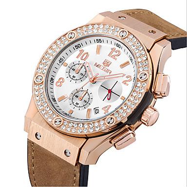 MEGIR Bărbați Ceas Elegant  Ceas La Modă Ceas de Mână Ceas Sport Ceas Militar  Quartz Piloane de Menținut Carnea Calendar Piele Autentică