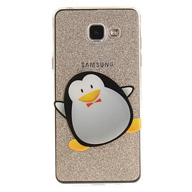 Etui Käyttötarkoitus Samsung Galaxy A5(2016) A3(2016) IMD Läpinäkyvä Kuvio Takakuori Eläin Pehmeä TPU varten A5(2016) A3(2016) A5 A3
