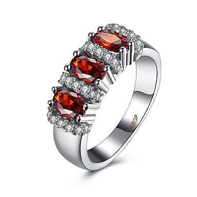 Γυναικεία Δαχτυλίδι Cubic Zirconia Πολυτέλεια Ζιρκονίτης Χαλκός Τιτάνιο Ατσάλι Προσομειωμένο διαμάντι Κοσμήματα Πάρτι Καθημερινά Causal