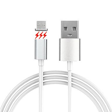 USB 2.0 HDMI صغيرة 2.0 مغناطيس كابل من أجل Samsung Huawei Sony Nokia HTC Motorola LG Lenovo Xiaomi 150 cm PVC ألمنيوم