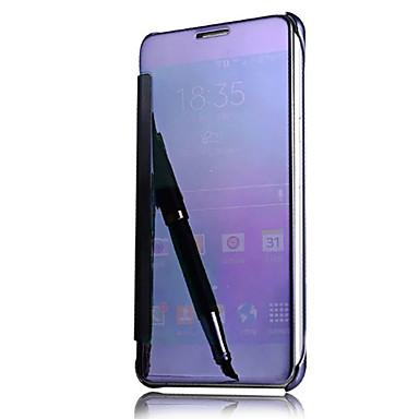 Maska Pentru Samsung Galaxy A5(2016) A3(2016) Auto Sleep / Wake Placare Oglindă Întoarce Carcasă Telefon Culoare solidă Greu PC pentru