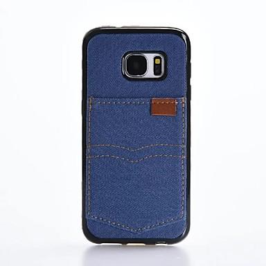 Kılıf Na Samsung Galaxy S7 edge S7 Etui na karty Odporne na wstrząsy Czarne etui Jendolity kolor Miękkie Włókienniczy na S7 edge S7