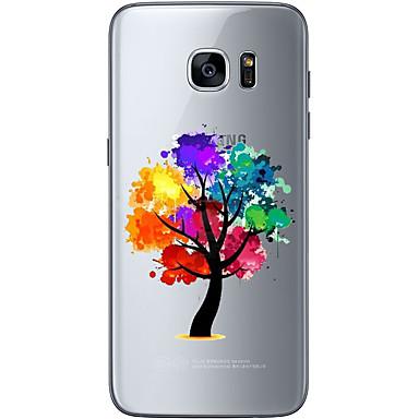 Kılıf Na Samsung Galaxy S7 edge S7 Ultra cienkie Przezroczyste Wzór Czarne etui Drzewo Miękkie TPU na S7 edge S7 S6 edge plus S6 edge S6