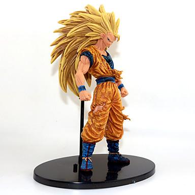 Anime Aksiyon figürleri Esinlenen Dragon Ball Goku Anime Cosplay Aksesuarları şekil Altın PVC
