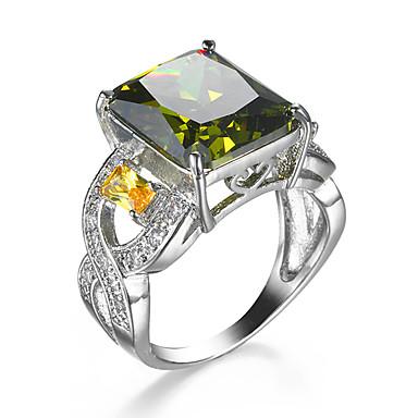 Γυναικεία Δαχτυλίδι Cubic Zirconia Πράσινο Ζιρκονίτης Cubic Zirconia Κράμα Γάμου Αρραβώνας Causal Κοστούμια Κοσμήματα
