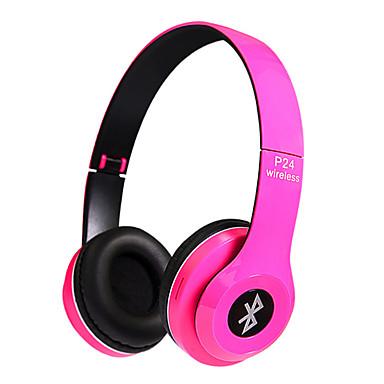 P24 Στο αυτί Ασύρματη Ακουστικά Κεφαλής Δυναμικός Πλαστική ύλη Κινητό Τηλέφωνο Ακουστικά Με Μικρόφωνο Με Έλεγχος έντασης ήχου Ακουστικά