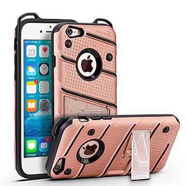 إلى ضد الصدمات مع حامل غطاء غطاء خلفي غطاء لون صلب قاسي PC إلى Apple فون 7 زائد فون 7 iPhone 6s Plus/6 Plus iPhone 6s/6 iPhone SE/5s/5
