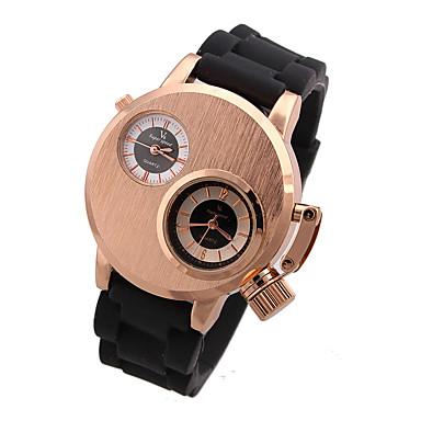 Bărbați Ceas Sport Ceas Militar Ceas Elegant Ceas La Modă Unic Creative ceas Quartz Calendar Mare Dial Piele Autentică Bandă Vintage