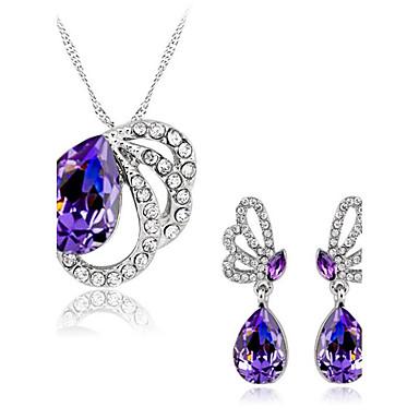 Dame Seturi de bijuterii Ametist sintetic Cristal Ștras Nuntă Petrecere Zilnic Cristal Austriac Aliaj Fluture Animal 1 Colier 1 Pereche