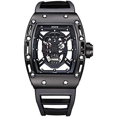 Χαμηλού Κόστους Ανδρικά ρολόγια-SKONE Ανδρικά Αθλητικό Ρολόι Διάφανο Ρολόι Ρολόι Καρπού Χαλαζίας σιλικόνη Μαύρο / Μπλε / Κόκκινο 30 m Ανθεκτικό στο Νερό Φωτίζει Αναλογικό Πολυτέλεια Βίντατζ Κρανίο Μοντέρνα Μοναδικό Watch Creative -