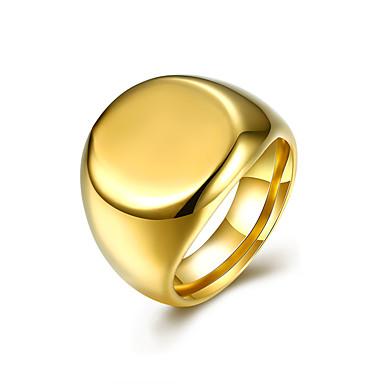 Męskie Pierscionek minimalistyczny styl Modny Europejski Stal nierdzewna Stal tytanowa Circle Shape Geometric Shape Biżuteria Impreza