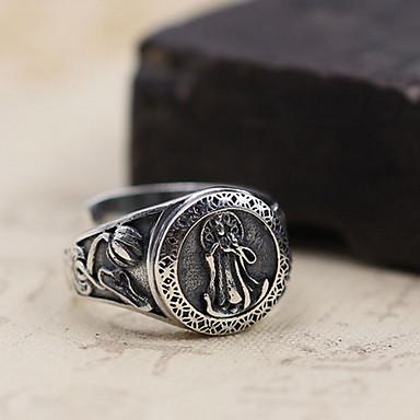 Ανδρικά / Γυναικεία Δαχτυλίδι - Ασήμι Στερλίνας Ανοικτό Ένα Μέγεθος Ασημί Για Καθημερινά / Causal