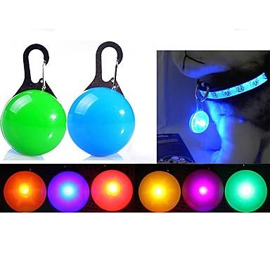 Gato Cachorro Luz de Segurança de LED Luzes LED Baterias incluídas Sólido Plástico Vermelho Verde Azul Rosa claro Transparente